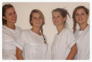 Les étudiantes infirmières en Haiti